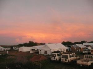 Sunset on the Humanitarian Hub, Mingkaman
